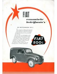 1954 FIAT 500 C / 1100 I / 615 N BROCHURE NEDERLANDS