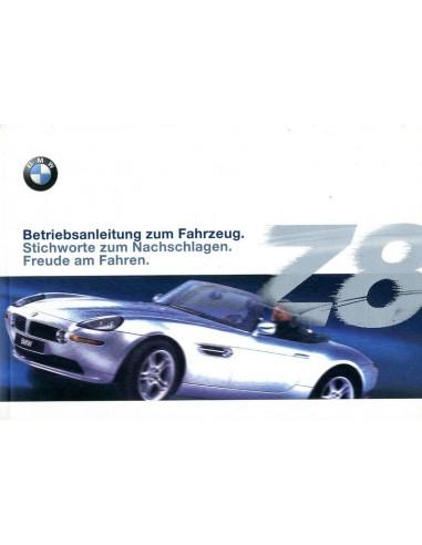 2000 bmw z8 owners manual handbook german. Black Bedroom Furniture Sets. Home Design Ideas