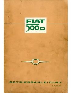 1962 FIAT 500 D INSTRUCTIEBOEKJE DUITS