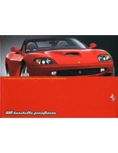 2001 FERRARI 550 BARCHETTA PININFARINA INSTRUCTIEBOEKJE 1698/01