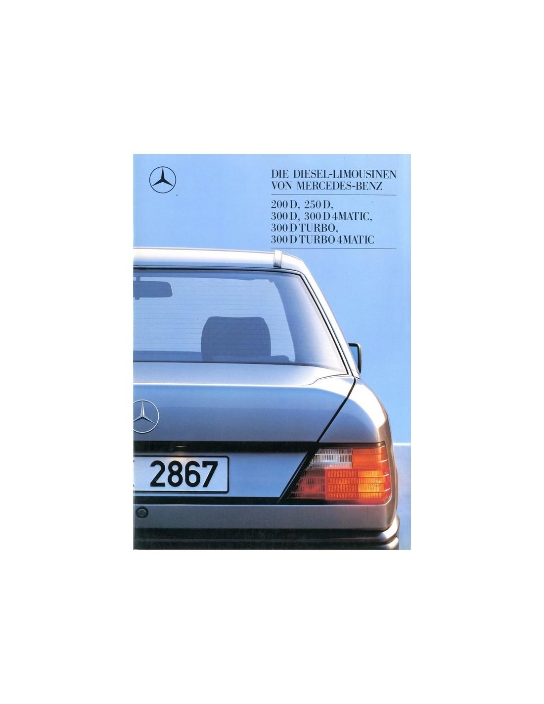 1988 mercedes benz e class diesel brochure german for Mercedes benz e class brochure