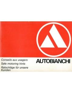 1968 AUTOBIANCHI ADVIES VOOR ONZE KLANTEN HANDBOEK