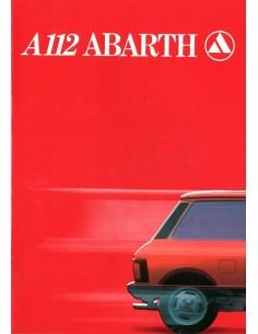 1980 AUTOBIANCHI A112 ABARTH BROCHURE ENGELS