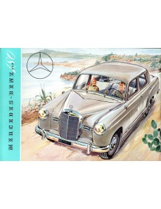 1953 MERCEDES BENZ TYPE 180 BROCHURE DUITS