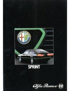 1983 ALFA ROMEO SPRINT BROCHURE DUITS