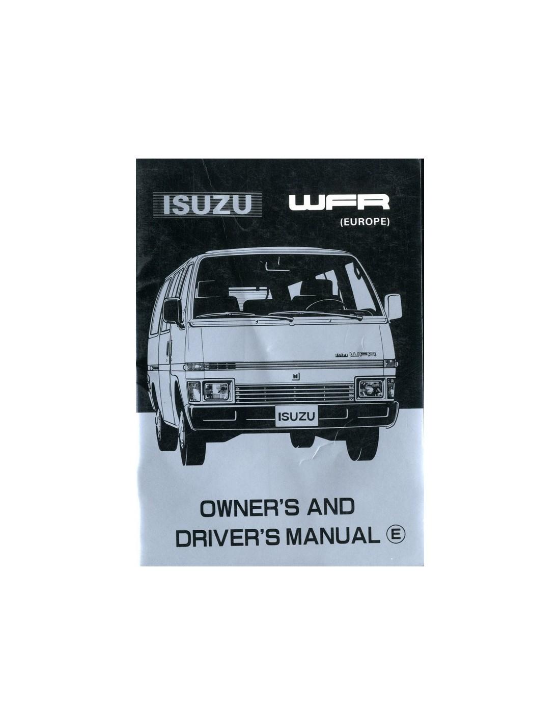 Isuzu manual array 1982 isuzu wfr owner u0027s manual english rh autolit eu fandeluxe Images