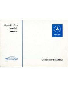 1976 MERCEDES BENZ 280 SE SEL ELECTRISCH SCHEMA DUITS
