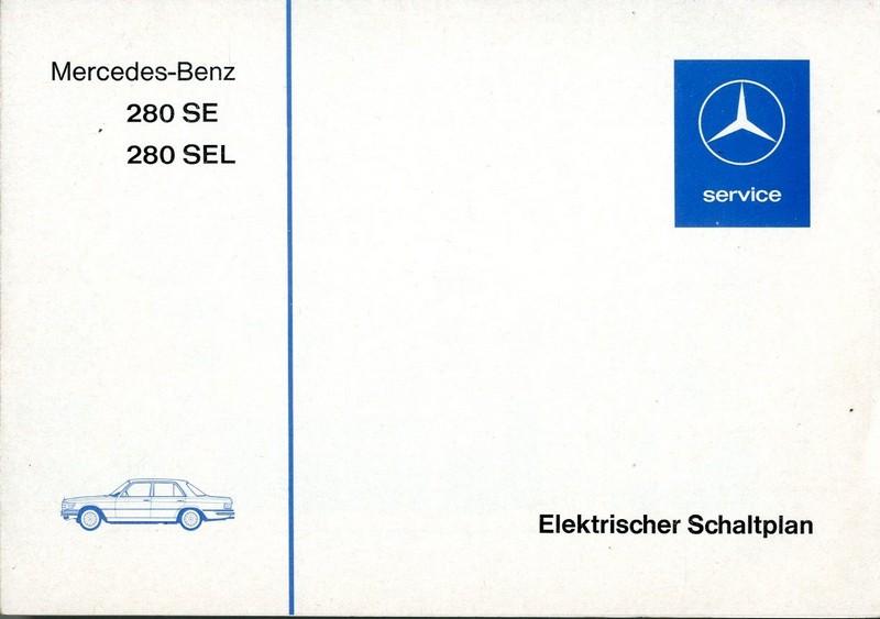 1976 mercedes benz 280 se sel elektrischer schaltplan deutsch