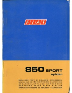 1970 FIAT 850 SPORT SPIDER CARROSSERIE ONDERDELENHANDBOEK