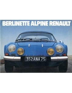 1976 ALPINE BERLINETTE BROCHURE FRANS