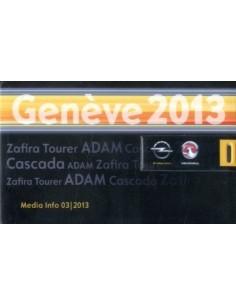 2013 OPEL & VAUXHALL GENEVE PERSMAP USB
