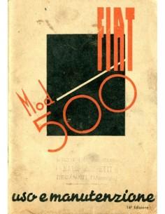 1947 FIAT 500 INSTRUCTIEBOEKJE ITALIAANS