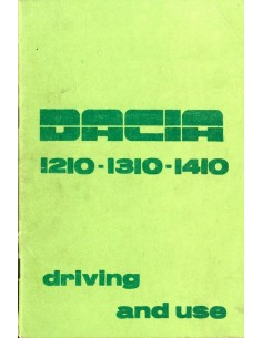 1984 DACIA 1210 1310 1410 INSTRUCTIEBOEKJE ENGELS