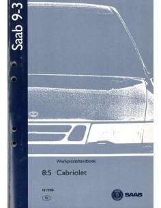 1998 SAAB 9-3 CABRIOLET WERKPLAATSHANDBOEK NEDERLANDS