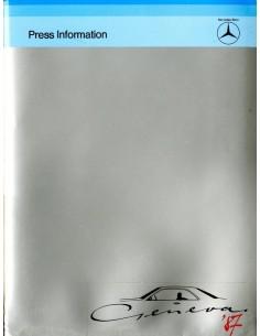 1987 MERCEDES BENZ GENEVE PROGRAMMA PERSMAP ENGELS