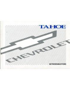 1997 CHEVROLET TAHOE INSTRUCTIEBOEKJE DUITS