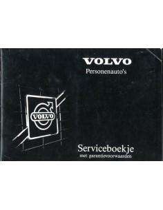1986 VOLVO ONDERHOUDSBOEKJE NEDERLANDS