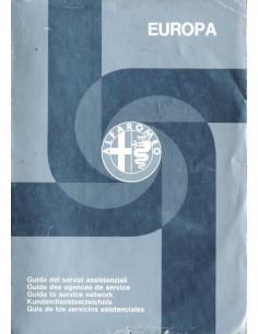 1975 ALFA ROMEO DEALER SERVICE BOEK