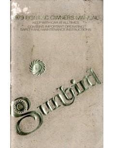 1979 PONTIAC SUNBIRD INSTRUCTIEBOEKJE ENGELS