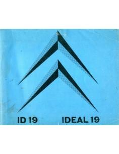 1962 CITROEN ID 19 INSTRUCTIEBOEKJE NEDERLANDS