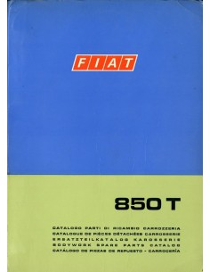 1971 FIAT 850 T CARROSSERIE ONDERDELENHANDBOEK