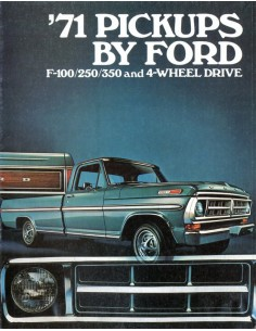 1971 FORD PICKUPS BROCHURE ENGELS USA