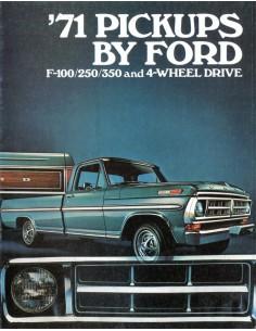 1971 FORD PICKUPS BROCHURE ENGELS USA
