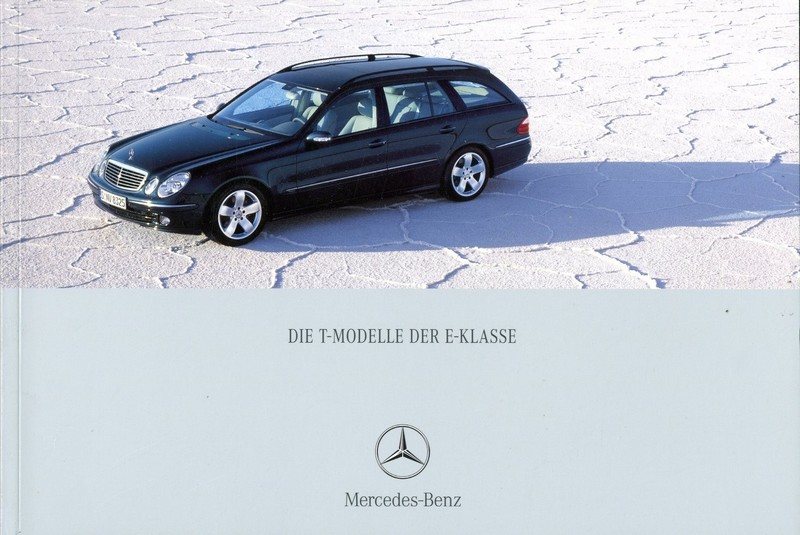 2003 mercedes benz e klasse t brochure german for Mercedes benz e class brochure