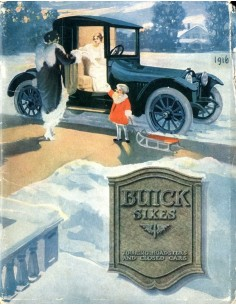 1916 BUICK SIXES BROCHURE ENGELS USA