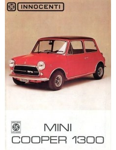 1971 INNOCENTI MINI COOPER 1300 BROCHURE NEDERLANDS