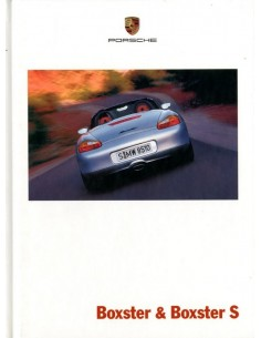 2001 PORSCHE BOXSTER S HARDCOVER BROCHURE DUITS