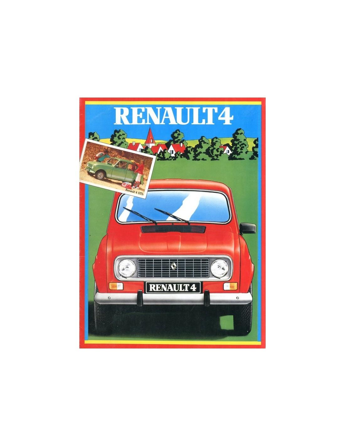 Bmw Z3 Brochure: 1983 RENAULT 4 BROCHURE GERMAN