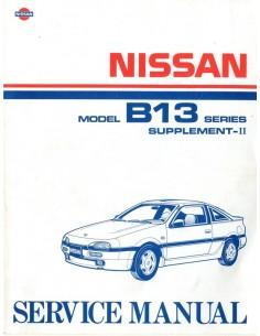 1992 NISSAN 100 NX WERKPLAATSHANDBOEK SUPPLEMENT ENGELS