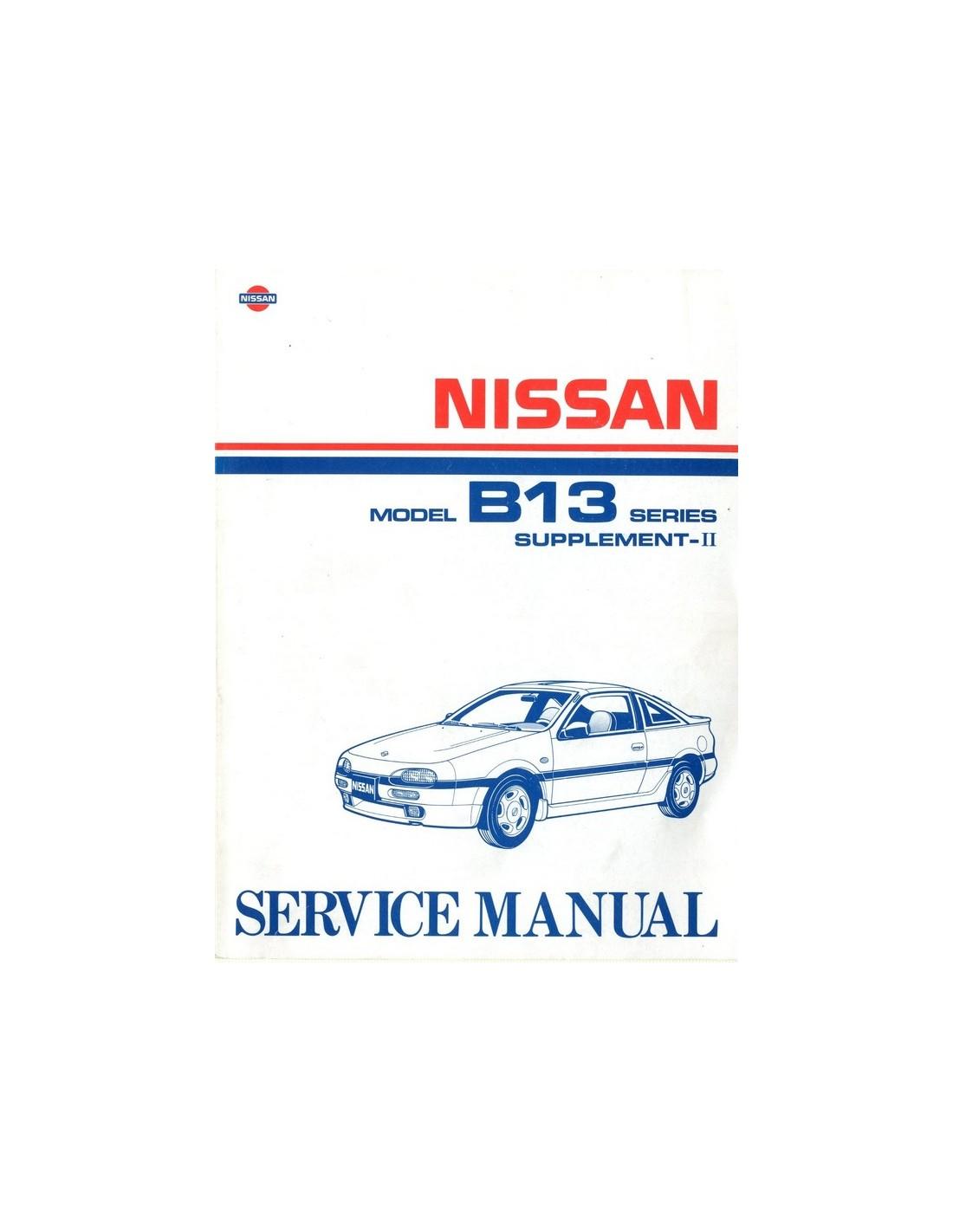 1992 nissan 100 nx workshop manual supplement english rh autolit eu Nissan NV Passenger Van Maroon Nissan C22