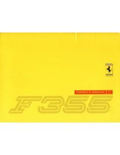 1997 FERRARI F355 INSTRUCTIEBOEKJE USA VERSIE 1097/96