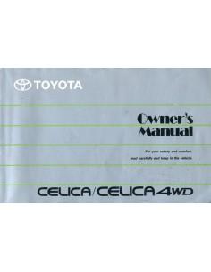 1991 TOYOTA CELICA 4WD  INSTRUCTIEBOEKJE ENGELS