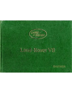 1981 LAND ROVER V8 INSTRUCTIEBOEKJE DUITS