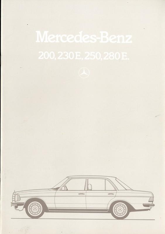 1983 mercedes benz e class brochure german for Mercedes benz e class brochure