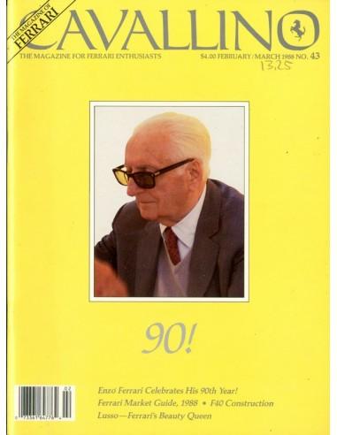 1988 FERRARI CAVALLINO MAGAZINE USA 43