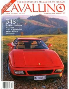 1990 FERRARI CAVALLINO MAGAZINE USA 55