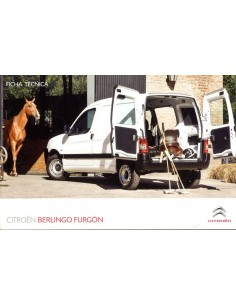2010 CITROEN BERLINGO FURGON BROCHURE ARGENTINIE