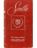 1978 CADILLAC SEVILLE INSTRUCTIEBOEKJE ENGELS USA