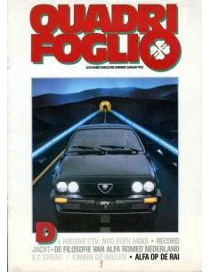 1983 ALFA ROMEO QUADRIFOGLIO MAGAZINE 1 NEDERLANDS