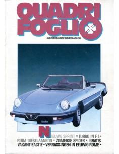1983 ALFA ROMEO QUADRIFOGLIO MAGAZINE 2 NEDERLANDS
