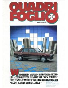 1983 ALFA ROMEO QUADRIFOGLIO MAGAZINE 4 NEDERLANDS