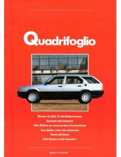 1984 ALFA ROMEO QUADRIFOGLIO MAGAZINE 6 NEDERLANDS