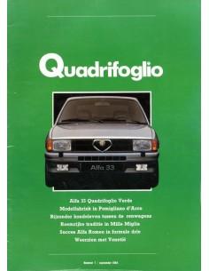1984 ALFA ROMEO QUADRIFOGLIO MAGAZINE 7 NEDERLANDS