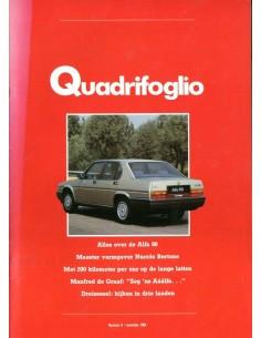 1984 ALFA ROMEO QUADRIFOGLIO MAGAZINE 8 NEDERLANDS