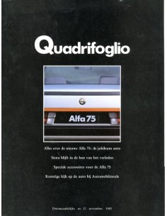 1985 ALFA ROMEO QUADRIFOGLIO MAGAZINE 12 NEDERLANDS