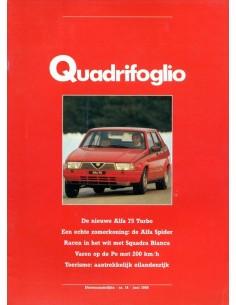1986 ALFA ROMEO QUADRIFOGLIO MAGAZINE 14 NEDERLANDS